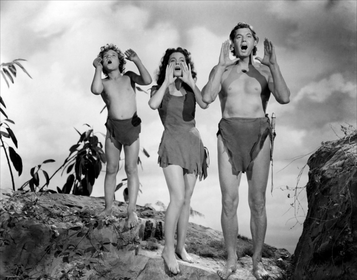 Johnny Sheffield, Maureen O'Sullivan and Johnny Weissmuller in Tarzan's Secret Treasure (1941). It was announced today that Johnny Sheffield has died at age 79.