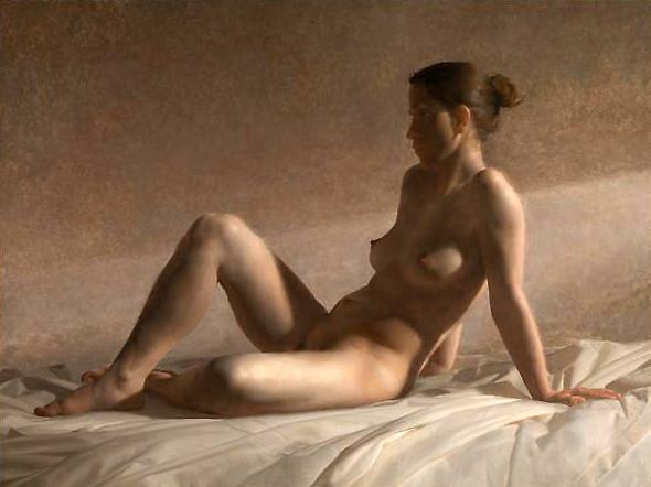 Jacob Collins Seated Nude, 2011