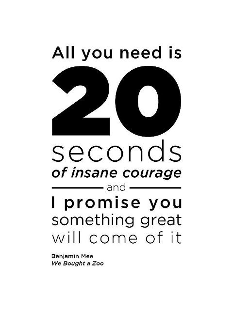 Love Quotes Pics • All you need is 20 seconds of insane