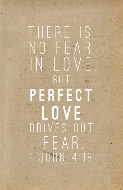 keepcalmgodloves:  showersofgrace:  Love has been perfected among us in this: that we may have boldness in the day of judgment; because as He is, so are we in this world. There is no fear in love; but perfect love casts out fear, because fear involves torment. But he who fears has not been made perfect in love. We love Him because He first loved us.1 John 4:17-19   (via imgTumble)