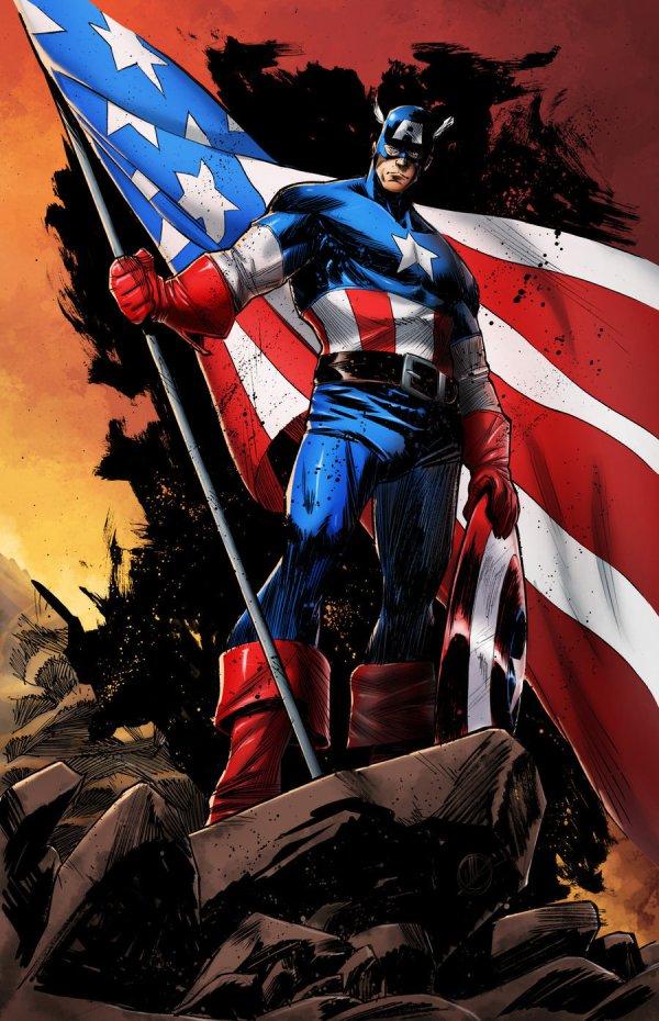 Captain America Comic Art