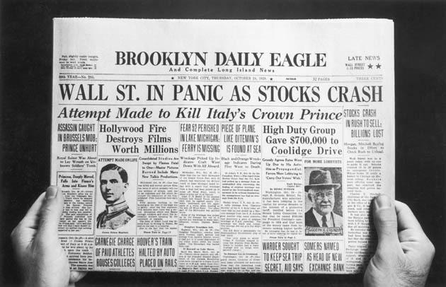 Stock Market Crash Newspaper