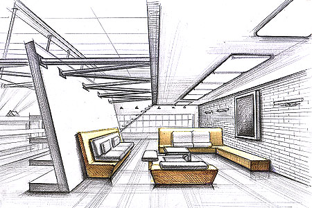 throughout interior design drawings