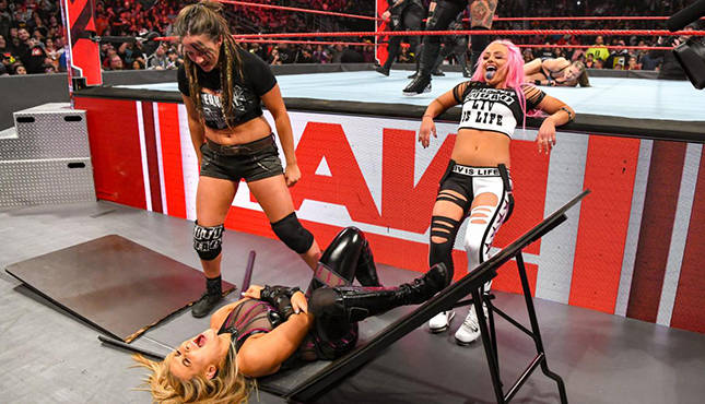 Wwe News Riott Squad Attacks Natalya Before Tag Team