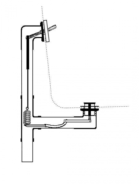 Pop Up Type Bathtub Drain