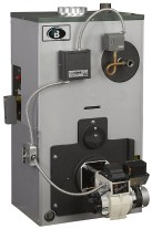 Peerless EC/ECT Steam Boiler with Water Boiler pictured upper left.