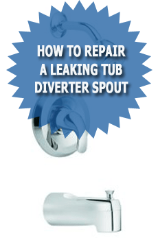 tub diverter spout