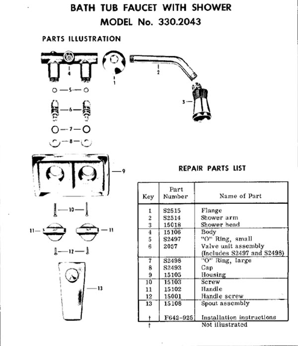Bathroom Faucet Diagram bathtub faucet repair question
