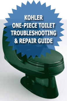Kohler One Piece Toilet Troubleshooting and repair guide