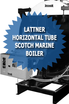 Lattner Horizontal Tube Scotch Marine Boiler