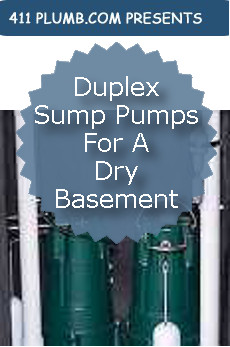 Duplex Sump Pumps For A Dry Basement