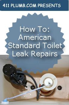 American Standard Champion Toilet Leak Repairs