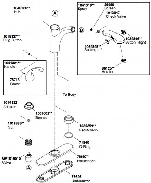 Kohler Faucet Parts Diagram, Kohler, Free Engine Image For
