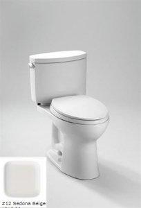 TOTO CST454CEFG#12 Drake II Two-Piece Toilet 1.28 GPF with SanaGloss, Sedona Beige