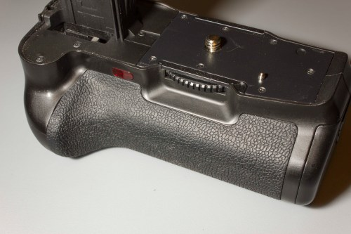 The front of the grip