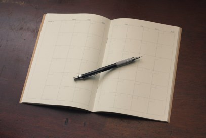 planner and pencil
