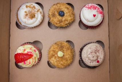 six cupcakes