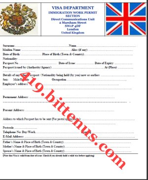 Letter To Immigration Officer For Work Permit Invitation Letter