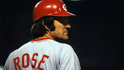Pete Rose of the Cincinnati Reds