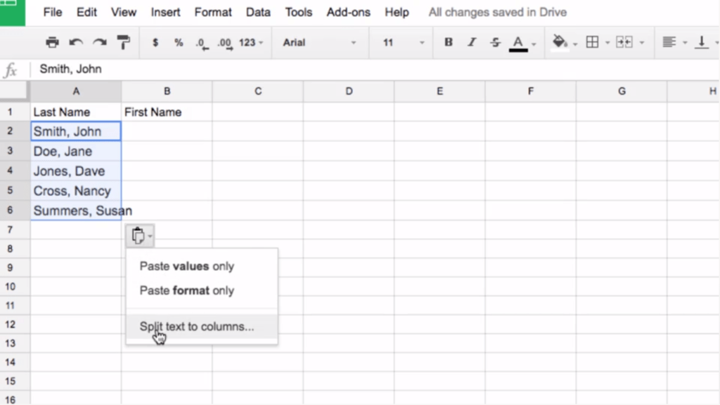 How to Split Text into Columns in Google Sheets - BetterCloud Monitor