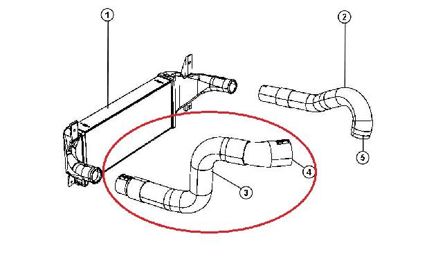 Tubo Saída Intercooler, 2.8CRD (JK07/10)