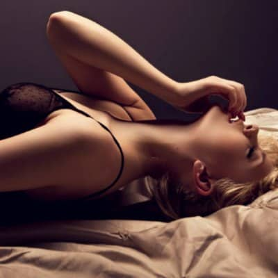 Sensual Blonde in Bed