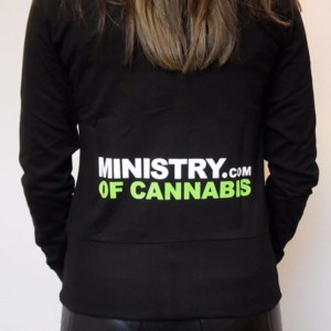 Balck Ministry of Cannabis women's jacket