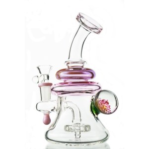 Pink Implosion Flower Perc Rig Toker Supply Discount Code