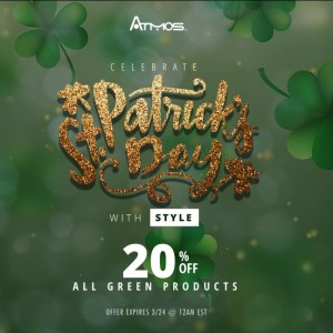 Saint Parick's Day Sale AtmosRX coupon code