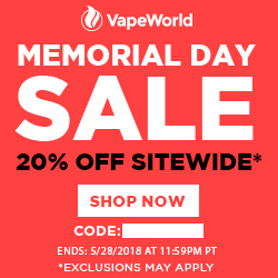 Vape World Memorial Day Sale Vape World Coupon Code