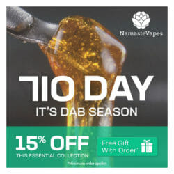 710 Sale NamasteVapes Coupon Code