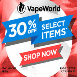Independence Day Sale VapeWorld coupon code