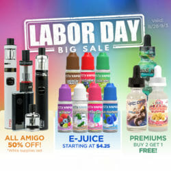 Labor Day Sale Vista Vapors Discount Code