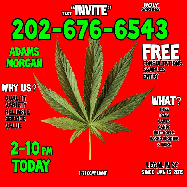Today's Weed Events In D.C. (02/08/2020) 1 2020