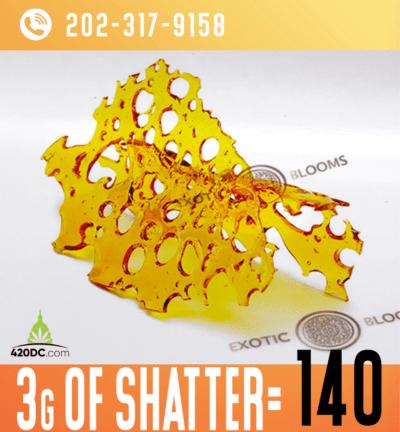 3G of Shatter for $140! 1 2020
