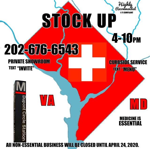 Today's Weed Events In D.C. (03/25/2020) 2 2020