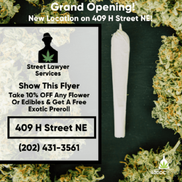 Today's​ ​Weed​ ​Events​ ​In​ ​D.C.​ (03/22/2020) 1 2020