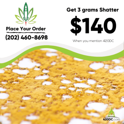 Get 3 grams Shatter for ONLY $140 1 2020
