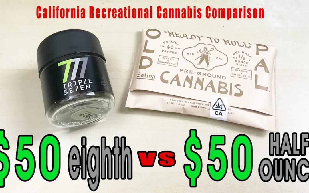 LIVESTREAM: California Recreational Cannabis: $50 Eighth VS $50 HALF OZ
