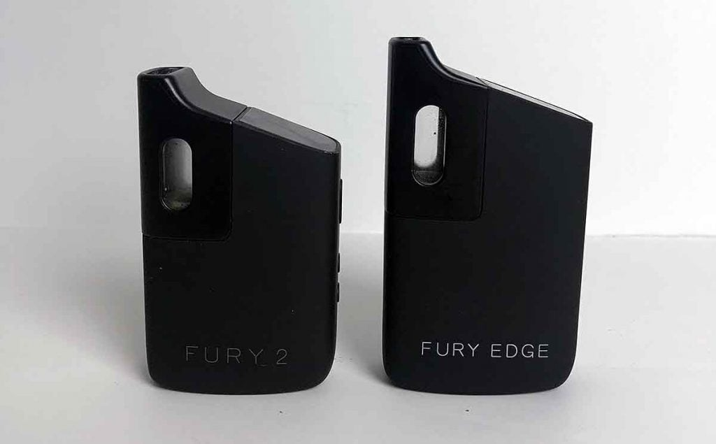 Fury Edge next to Fury 2 vaporizer