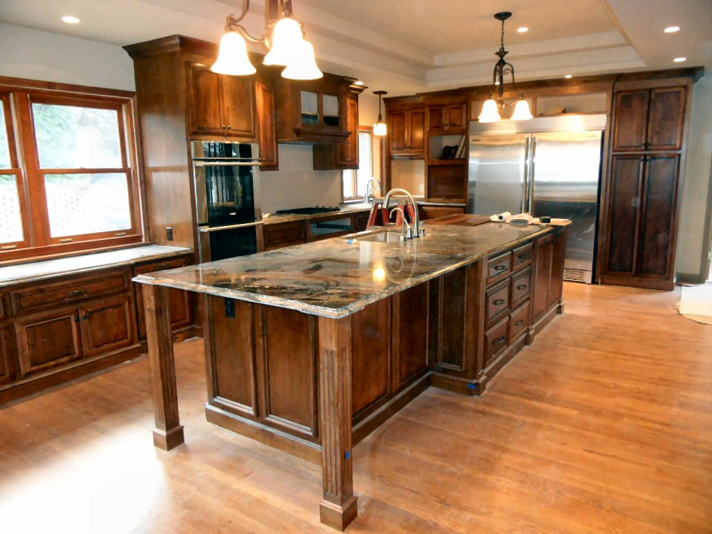 bobs furniture kitchen island small decor renovation projects experience the three month