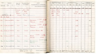 Logbook pages 13-14