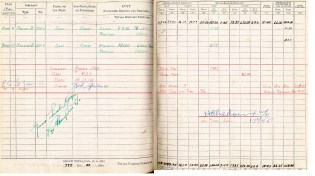 Logbook pages 27-28