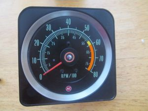 1969 Z28 OEM GM camaro 6000 8000 rpm tachometer — 427 King