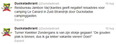 Donald Duck op twitter: actualiteiten