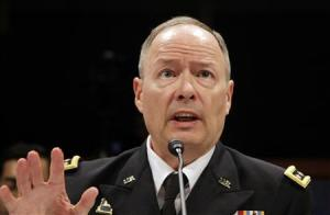 Director of the NSA U.S. Army General Alexander testifies before a U.S. House Permanent Select Committee on Intelligence hearing at the U.S. Capitol in Washington