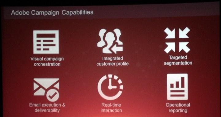 Een aantal functies van Adobe Campaign, zoals gedemonstreerd tijdens het evenement