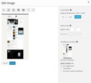 Afbeelding bewerken in hetzelfde scherm