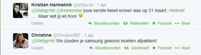 Screenshot tweets