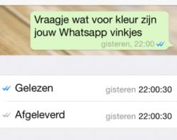 whatsapp gelezen
